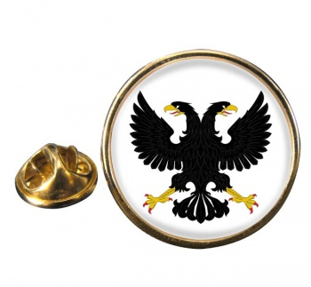 Russian Eagle Round Pin Badge
