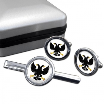 Russian Eagle  Cufflink and Tie Clip Set