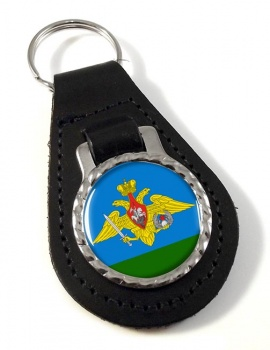 Russian Airborne Troops Leather Key Fob