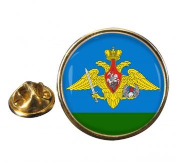 Russian Airborne Troops Round Pin Badge