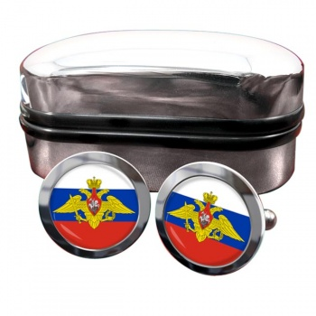 Russian Armed Forces Round Cufflinks