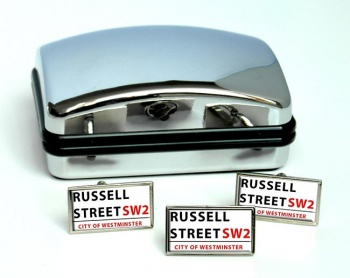 Russell Street Rectangle Cufflink and Tie Pin Set