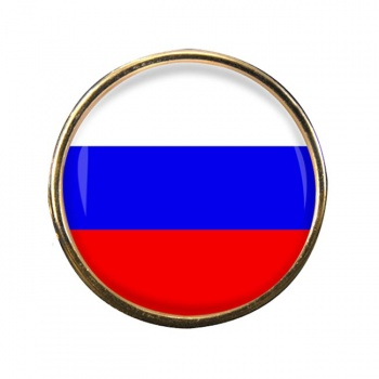 Russia Round Pin Badge