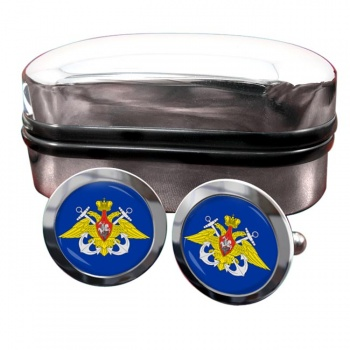 Russian Navy Round Cufflinks
