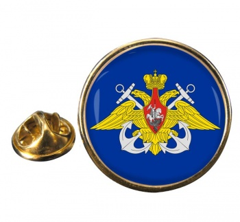 Russian Navy Round Pin Badge