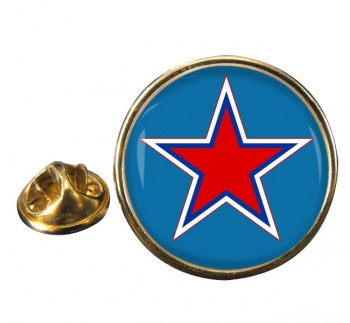 Russian Roundel Round Pin Badge