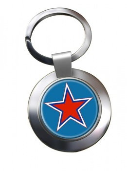 Russian Roundel Chrome Key Ring