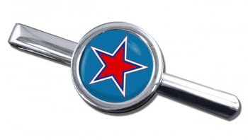 Russian Roundel Round Tie Clip