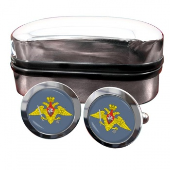 Strategic Missile Troops (Russian Army) Round Cufflinks