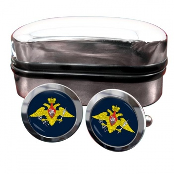 Russian Aerospace Defence Round Cufflinks