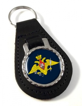 Russian Aerospace Defence Leather Key Fob