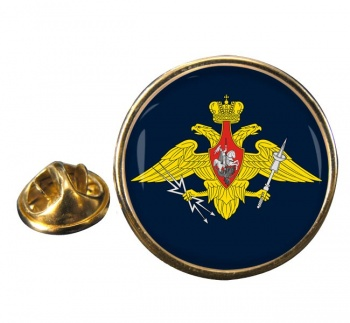 Russian Aerospace Defence Round Pin Badge