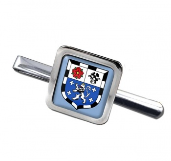 Saarbrucken (Germany) Square Tie Clip