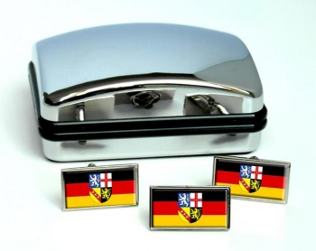 Saarland (Germany) Flag Cufflink and Tie Pin Set
