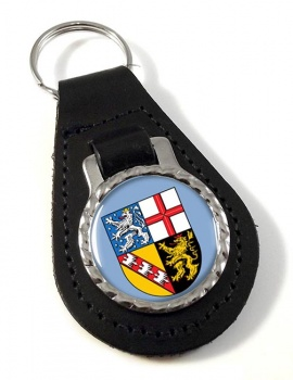 Saarland (Germany) Leather Key Fob