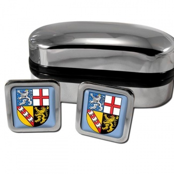 Saarland Germany Square Cufflinks