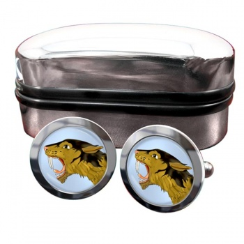 Smilodon (Sabre Toothed Tiger)  Round Cufflinks