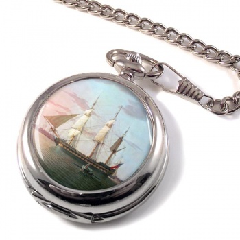 East Indiaman Warley by Robert Salmon Pocket Watch