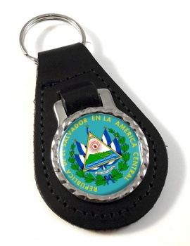 El Salvador Leather Key Fob
