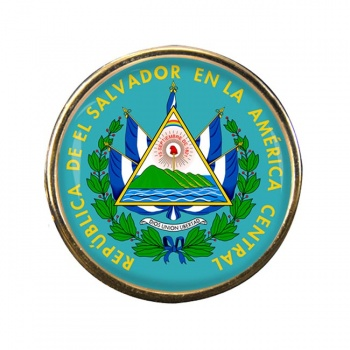El Salvador Round Pin Badge