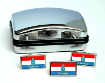 Samara Flag Cufflink and Tie Pin Set