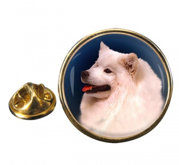 Samoyed Round Pin Badge