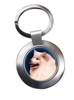 Samoyed Metal Key Ring