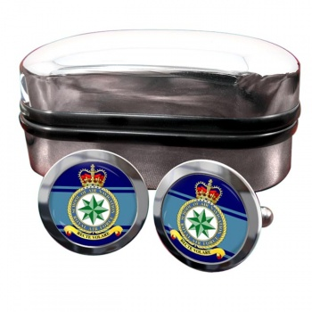 School of Air Navigation (Royal Air Force) Round Cufflinks