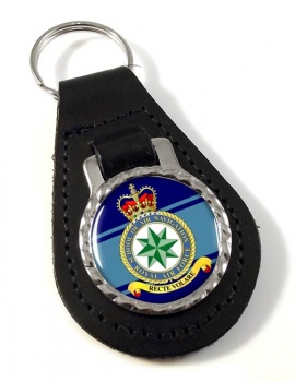 School of Air Navigation (Royal Air Force) Leather Key Fob