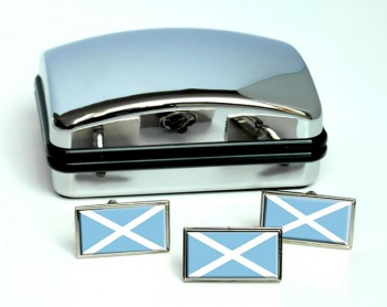 San Andres (Colombia) Flag Cufflink and Tie Pin Set