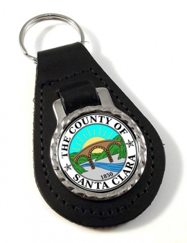 Santa Clara County CA  Leather Key Fob