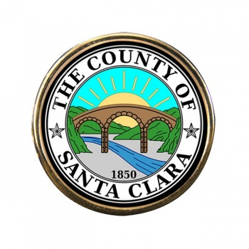 Santa Clara County CA Round Pin Badge