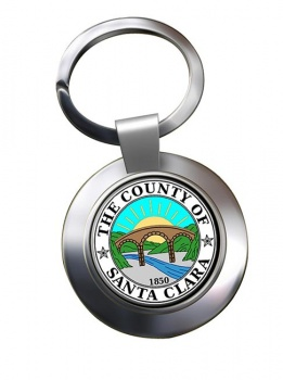 Santa Clara County CA  Metal Key Ring