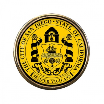 San Diego CA Round Pin Badge