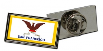 San Francisco CA  Flag Pin Badge