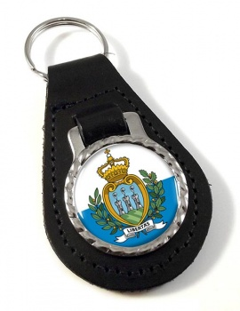 San Marino Leather Key Fob
