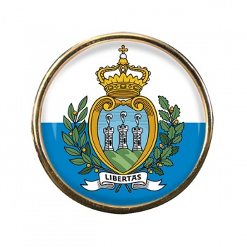 San Marino Round Pin Badge
