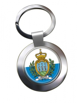 San Marino Metal Key Ring