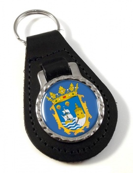 Santander (Spain) Leather Key Fob