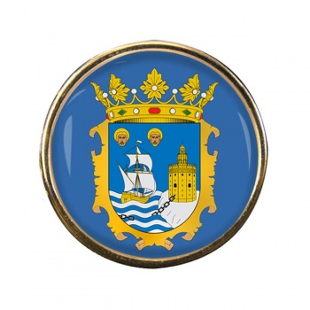 Santander (Spain) Round Pin Badge