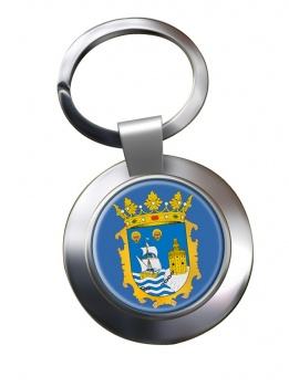 Santander (Spain) Metal Key Ring