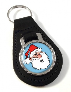 Father Christmas Santa Clause Leather Key Fob