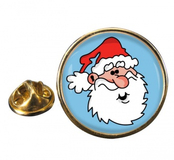 Father Christmas Santa Clause Round Pin Badge