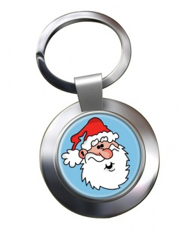 Father Christmas Santa Clause Chrome Key Ring