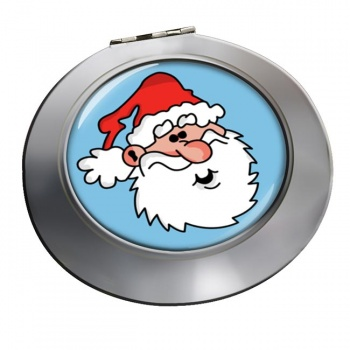 Father Christmas Santa Clause Chrome Mirror