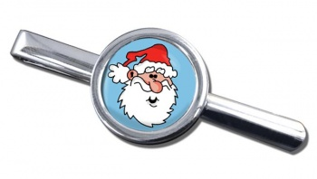 Father Christmas Santa Clause Round Tie Clip