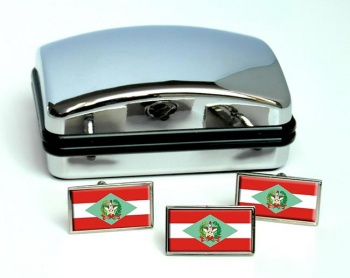 Santa Catarina (Brasil) Flag Cufflink and Tie Pin Set