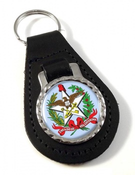 Santa Catarina (Brasil) Leather Key Fob