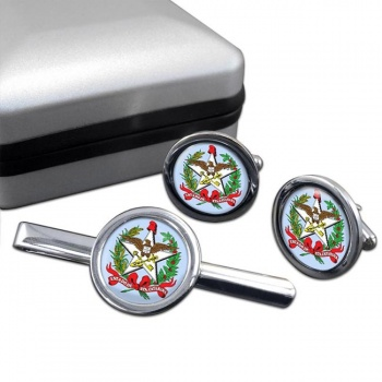 Santa Catarina (Brasil) Round Cufflink and Tie Clip Set