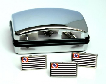 Estado de Sao Paulo (Brasil) Flag Cufflink and Tie Pin Set